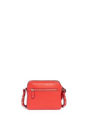 Back View - Click To Enlarge - Anya Hindmarch - 'Smiley' perforated leather crossbody bag
