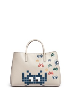 Anya Hindmarch 'Space Invaders Maxi Featherweight Ebury' leather tote