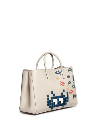 Figure View - Click To Enlarge - Anya Hindmarch - 'Space Invaders Maxi Featherweight Ebury' leather tote