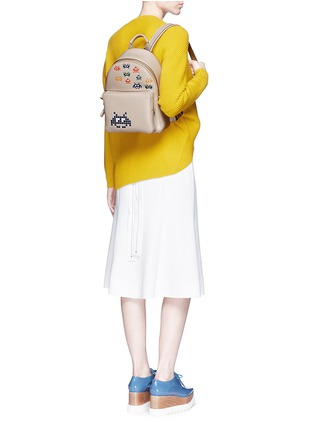 Figure View - Click To Enlarge - Anya Hindmarch - 'Space Invaders Mini' embossed leather backpack