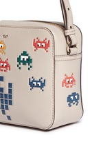'Space Invaders' embossed leather crossbody bag