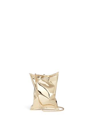 Main View - Click To Enlarge - Anya Hindmarch - 'Crisp Packet II' brass chain clutch