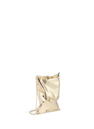 Figure View - Click To Enlarge - Anya Hindmarch - 'Crisp Packet II' brass chain clutch
