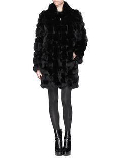 HOCKLEY'Albatross' Fox fur suede trim coat
