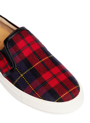 Detail View - Click To Enlarge - Pedder Red - Tartan check flannel slip-ons