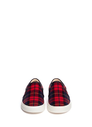 Figure View - Click To Enlarge - Pedder Red - Tartan check flannel slip-ons