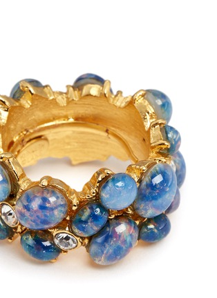 Detail View - Click To Enlarge - Kenneth Jay Lane - Opalescent glass cabochon cluster ring