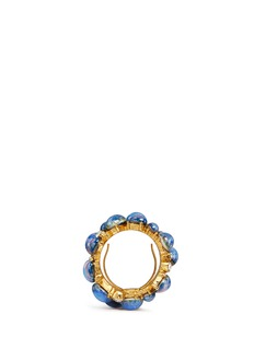 Kenneth Jay LaneOpalescent glass cabochon cluster ring
