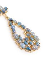 Opalescent glass cabochon cutout drop earrings