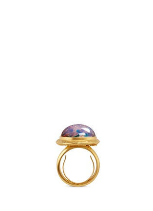 Figure View - Click To Enlarge - Kenneth Jay Lane - Opalescent glass cabochon ring