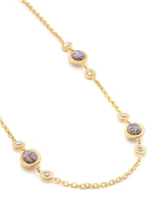 Detail View - Click To Enlarge - Kenneth Jay Lane - Opalescent glass cabochon cable chain necklace
