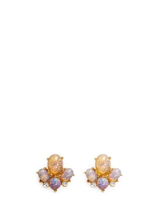 Main View - Click To Enlarge - Kenneth Jay Lane - Opalescent glass cabochon stud earrings
