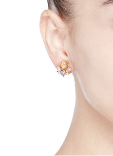 Kenneth Jay LaneOpalescent glass cabochon stud earrings