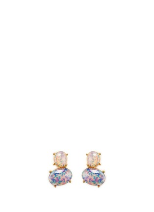Main View - Click To Enlarge - Kenneth Jay Lane - Opalescent glass cabochon drop earrings