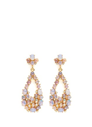 Kenneth Jay Lane - Opalescent glass cabochon cutout drop earrings