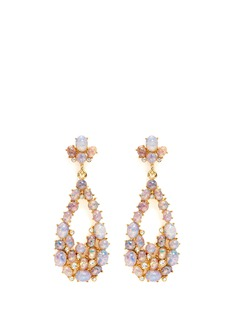 Kenneth Jay Lane Opalescent glass cabochon cutout drop earrings