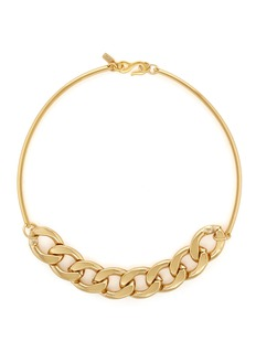 Kenneth Jay Lane Curb chain collar necklace