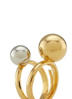 Contrast double sphere ring