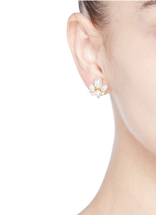 Kenneth Jay Lane - Glass pearl stud earrings