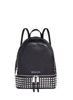 'Rhea' small stud leather backpack