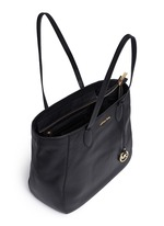 'Ani' large top zip pebbled leather tote