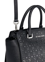'Selma' medium perforated leather satchel