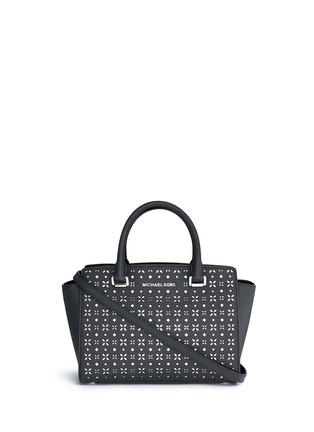 Michael Kors - 'Selma' medium perforated leather satchel