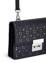 'Sloan' small floral perforated leather crossbody
