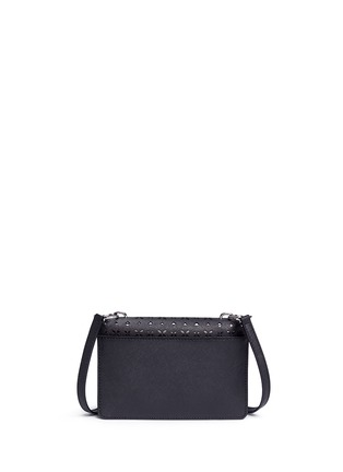 Back View - Click To Enlarge - Michael Kors - 'Sloan' small floral perforated leather crossbody