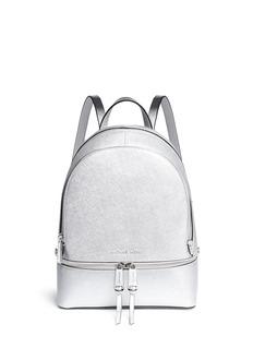 Michael Kors'Rhea' small metallic saffiano leather backpack