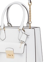 'Bridgette' medium saffiano leather boxy tote