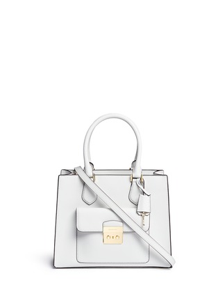 Main View - Click To Enlarge - Michael Kors - 'Bridgette' medium saffiano leather boxy tote