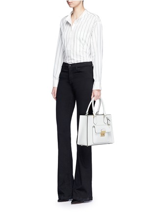 Figure View - Click To Enlarge - Michael Kors - 'Bridgette' medium saffiano leather boxy tote