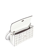 'Ava' extra small perforated leather crossbody bag