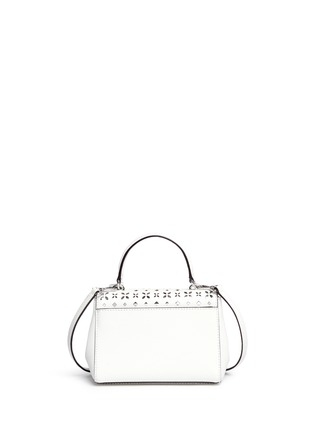 Back View - Click To Enlarge - Michael Kors - 'Ava' extra small perforated leather crossbody bag