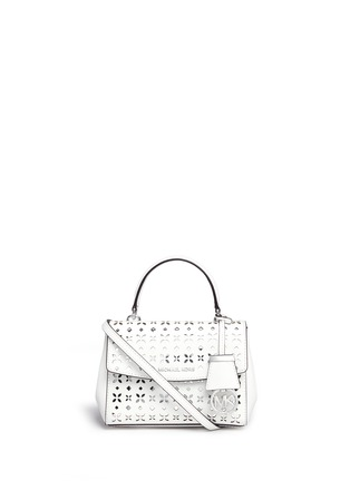 Main View - Click To Enlarge - Michael Kors - 'Ava' extra small perforated leather crossbody bag
