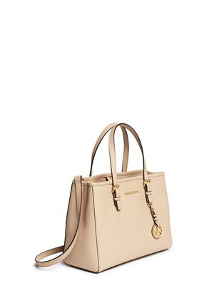 Front View - Click To Enlarge - Michael Kors - 'Jet Set Travel' medium saffiano leather east west tote