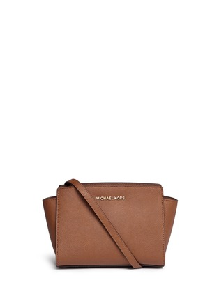Main View - Click To Enlarge - Michael Kors - 'Selma' medium saffiano leather messenger bag