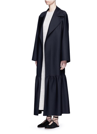 Figure View - Click To Enlarge - The Row - 'Alexander' peplum hem belted coat