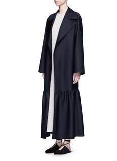 The Row'Alexander' peplum hem belted coat