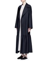 'Alexander' peplum hem belted coat