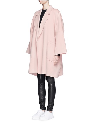 Front View - Click To Enlarge - Helmut Lang - 'Cape' oversize double face wool-cashmere coat
