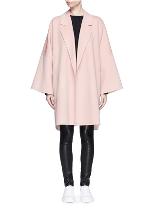 Main View - Click To Enlarge - Helmut Lang - 'Cape' oversize double face wool-cashmere coat