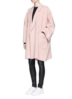 HELMUT LANG'Cape' oversize double face wool-cashmere coat