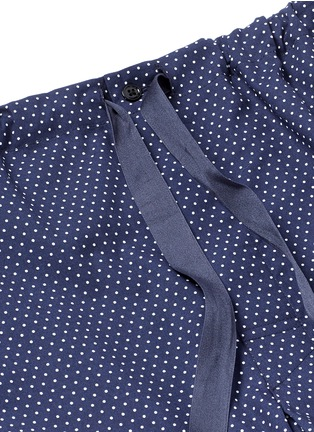 Detail View - Click To Enlarge - Araks - 'Ally' polka dot cotton tie pants