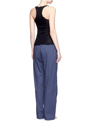 Back View - Click To Enlarge - Araks - 'Ally' polka dot cotton tie pants