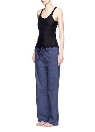 Figure View - Click To Enlarge - Araks - 'Ally' polka dot cotton tie pants