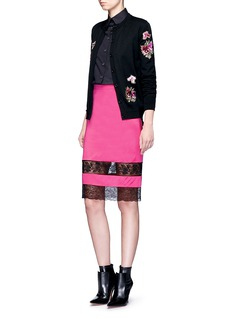 GivenchyFloral embroidered wool cardigan