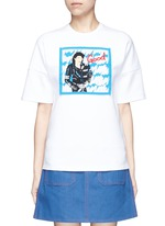 MJ CD cover embroidery T-shirt