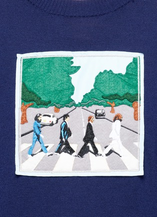 Detail View - Click To Enlarge - Ground Zero - Beatles CD cover embroidery Merino wool sweater